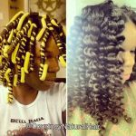 Lush flexi rod curls. Check out that shine!
