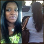 Natural hair flat ironed. Lovely length