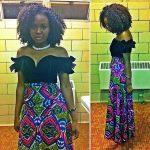The dress the hair…
