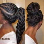 Flat twists ponytail and updo