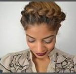 Some styles just make you want to protective style your hair! Halo Updo Protective Style – Crown Braid Tutorial