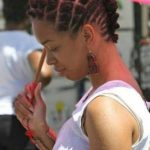 An idea of how to wear bantu knots as a hairstyle