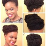 Amekas chic updo on twist out hair.