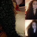 Felicia's natural curly hair – 8 months no heat