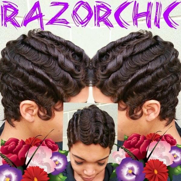 Finger waves by @razorchicofatlanta So talented! - Black