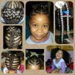 Cute updo on 6 year old Journee shared by Jazmin