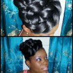 Alicia Morris from Barbados faux bun style