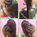Unique ponytail 'do by Jahair Salon