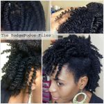 Vee's results of a 3 strand twist out on her kinky natural hair
