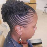 Another spectacular cornrow updo.