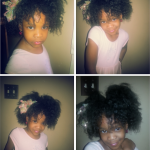 Her family was pushing Kristal to relax her baby's hair but she has learned to care for it natural and is enjoying the results. This is a twist out