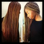 Gorgeous waist length box braids by @hairbylin