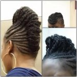 Nadou's mohawk braid on natural hair
