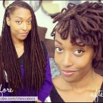 Very creative petaled loc fro by Chescalocs