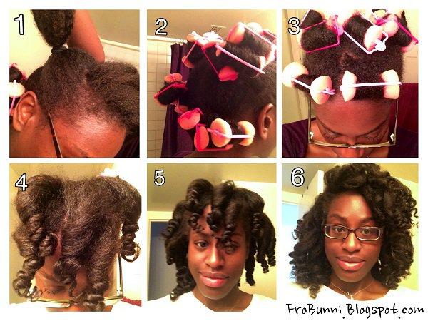Black Hair Roller Set Styles: Kami's Foam Roller Set On Her Natural Hair