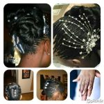 Bridal hair shared by Philile