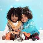 It's snowing like crazy here today so this photo is oddly appropriate, these two darlings are just adorable!