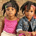 Twins with twist outs. Adorable!