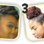 Cute right? And fab for length retention too! 4 Beautiful And Easy Natural Hair Buns To Save A Bad Hair Day