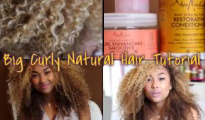 3A Curls - Big Curly Natural Hair Tutorial