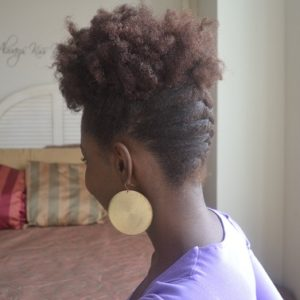 Le French Braid Up Do On Natural Hair