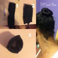 A Sock Bun Tutorial For Thin Or Short Hair