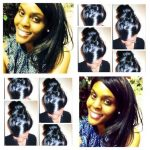 Classy Long Sided Curl and Classy UpDo (Natural Hair) Shared By LaRhonda