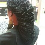 Fishtail braid with box braids by Shola