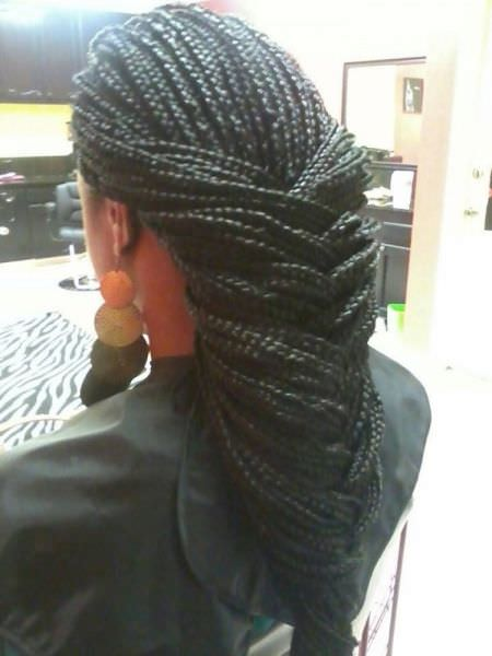 Fishtail Braid With Box Braids By Shola Black Hair