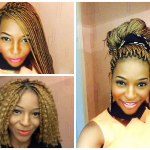 Nicole shares her blonde box braids