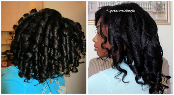 Curlformers On Relaxed Dry Hair Vs Wet Hair