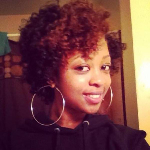 Joanne's twist out with rods on the end