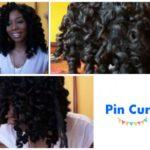Soft, Bouncy, Heatless Pin Curls on Natural Hair