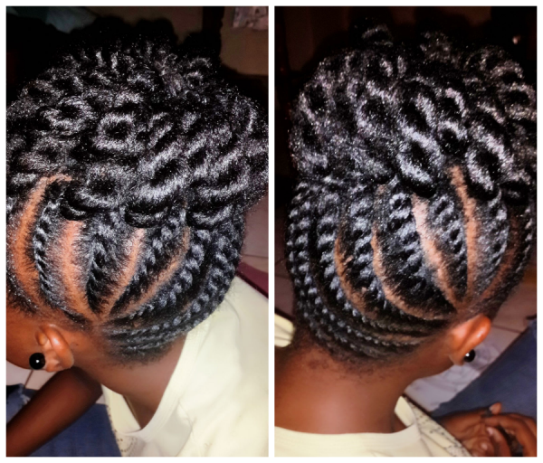 Flat Twist Updo Shared Tamika Black Hair Information