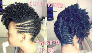 A Sexy Cool Funky Updo For On A Girl With 4B Natural Hair