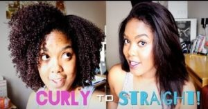 A Simple Way To Go From Curly To Bone Straight