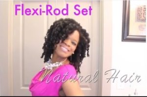 Twirl And Curl Flexi Rod Set On Natural Hair