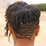 Cornrows And Twists Combo Updo