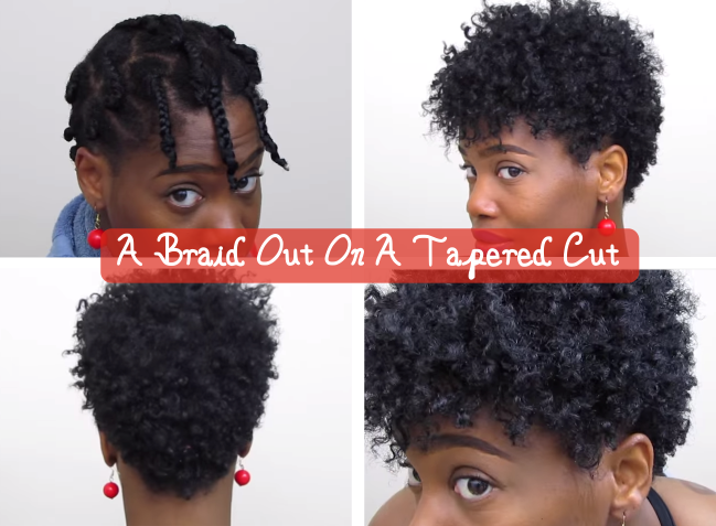 Crochet Braids On Tapered Cut : Tapered Natural Style See more about Crochet Braids, Crochet Braids ...