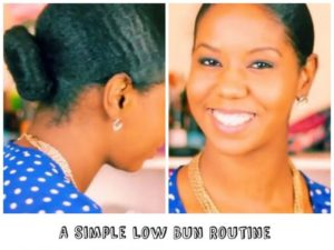 A Simple Low Bun Routine Perfect For Work Day Mornings