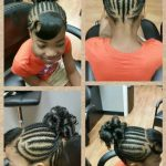 Cornrow Spiral Ponytail