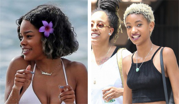 Teyana Taylor In Maui With Blonde Highlights And Willow With A Blonde TWA