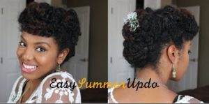 An Easy Summer Updo For Natural Hair