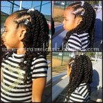 Front Cornrows And 2 Strand Twists Shared By Caramel Curlz & Swirls