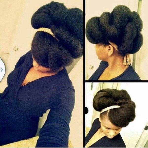 Gorgeous Tuck And Roll Natural Updo Black Hair Information