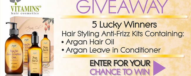 Giveaway Time!- 5 Lucky Winners Of Styling Argan Oil Based Styling Kits