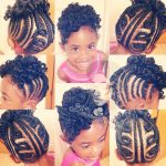 Braid Style Updo w/Bantu Knot Out Shared By Kinetra