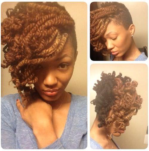 Lovely Kinky Twist Updo @theyokoproject - Black Hair Information