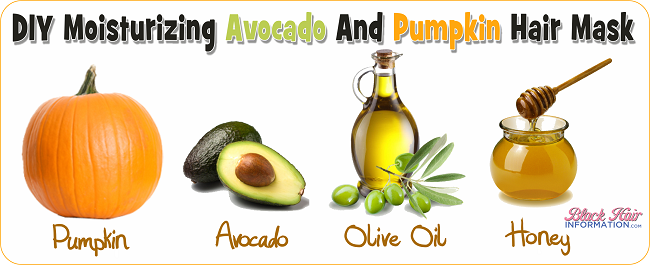 A Diy Moisturizing Avocado And Pumpkin Hair Mask For Dry Curly Hair