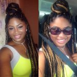 Box Braids and Ninja Bun Shared By Whitley
